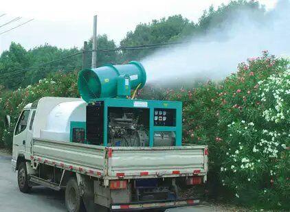 雾炮也可以用做绿化除尘、消杀